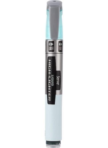 Serve Lıkıt Fosforlu Kalem Pastel Mavı Renkli